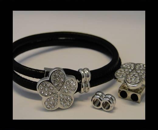 Zamak Half Cuff Bracelet Clasp MGL-93-6 mm