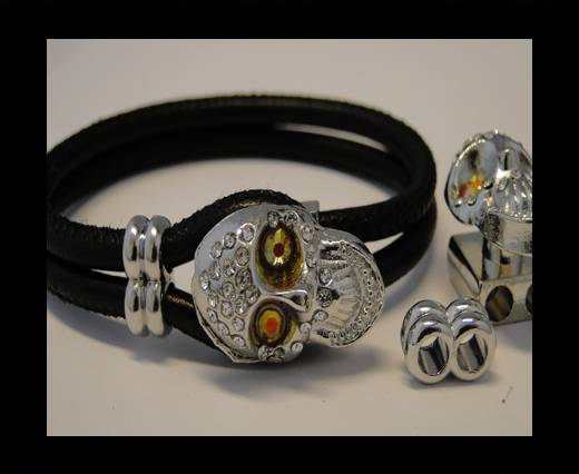 Zamak Half Cuff Bracelet Clasp  MGL-94-6 mm