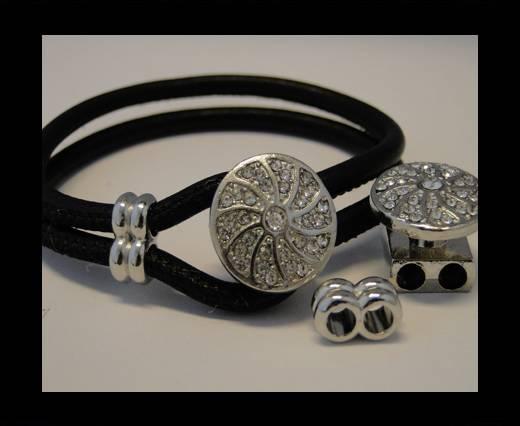 Zamak Half Cuff Bracelet Clasp MGL-96-6 mm