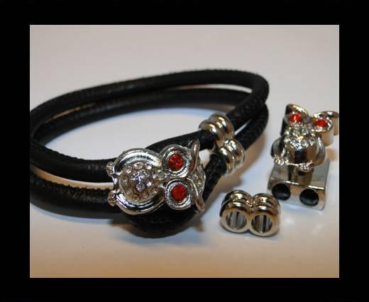 Zamak Half Cuff Bracelet Clasp MGL-110-6 mm