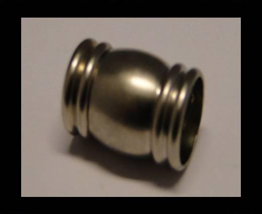 Zamak magnetic claps MGL-116-6mm-Silver