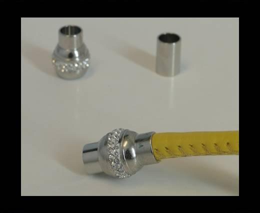 Zamak magnetic claps MGL-136-6mm Steel Finish