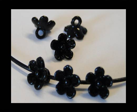 Metal Beads-Flower-Black-8mm