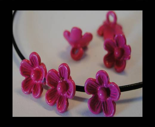 Metal Beads-Flower-Fuchsia-8mm