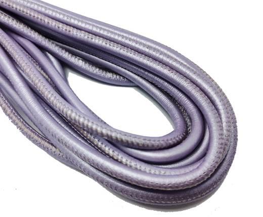 Round Stitched Nappa Leather Cord-4mm-metallic lila