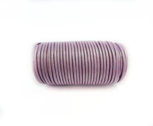 Round leather cord-2mm-Metallic Purple