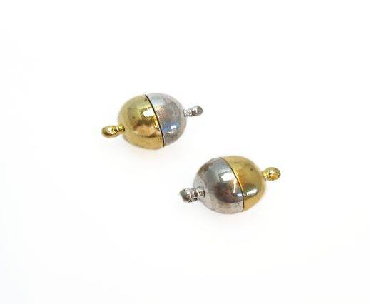 Magnetic Clasps, Zamak, Silver Gold, MG15-12mm