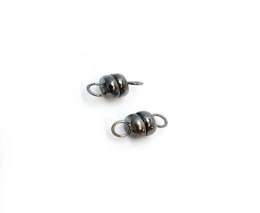 Magnetic Clasps, Zamak, Black, MG16 - 6mm