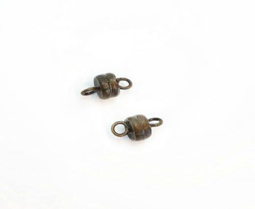 Magnetic Clasps, Zamak, Antique Gold, MG16 - 6*11mm