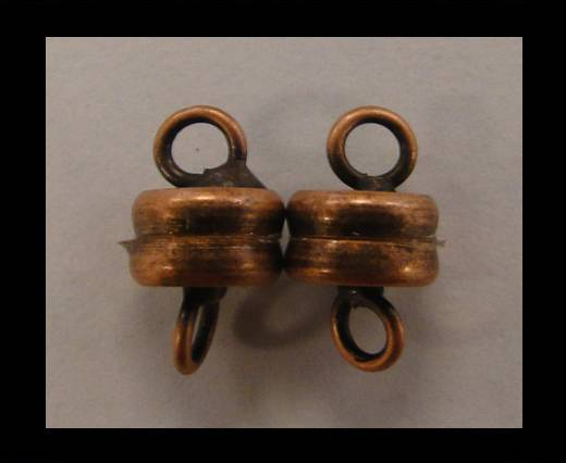 brass Magnetic clasp MG16-Antique Copper