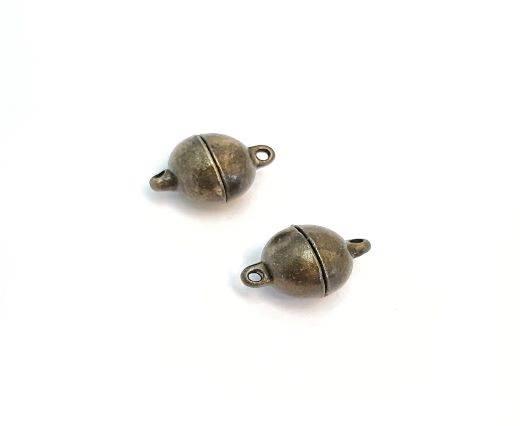 Magnetic Clasps, Zamak, Antique Gold, MG1 - 10mm
