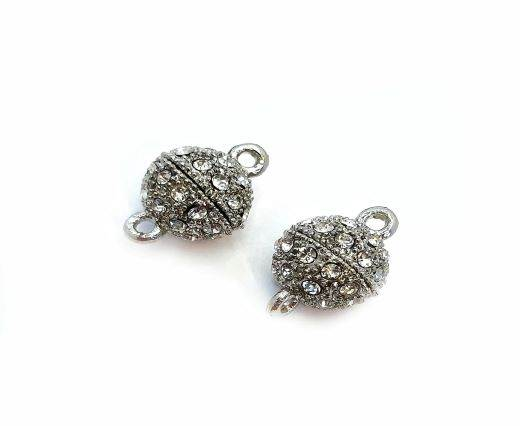 Magnetic Clasps, Zamak, Antique Silver, MG2 - 14mm