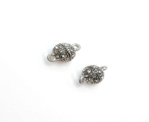 Magnetic Clasps, Zamak, Antique Silver, MG2 - 8mm