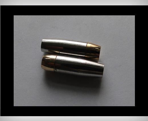 Zamak magnetic claps MGL13-5mm-Gold-Silver
