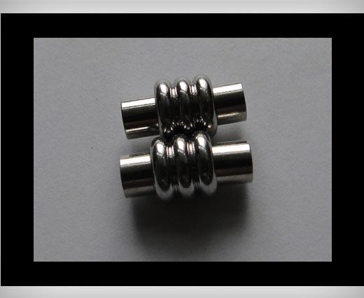 Zamak magnetic claps MGL12-5mm-Silver