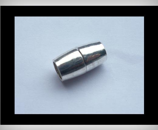Zamak magnetic claps MGL8-6mm-Silver