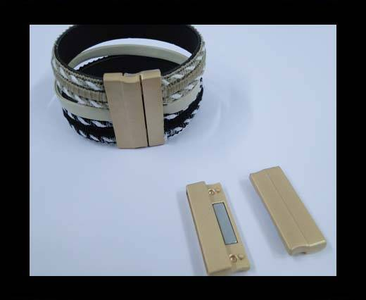 Zamak magnetic claps MGL-235-30*3mm-Matt Gold