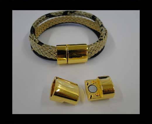 Zamak magnetic clasp MGL-269-10*7mm-Gold
