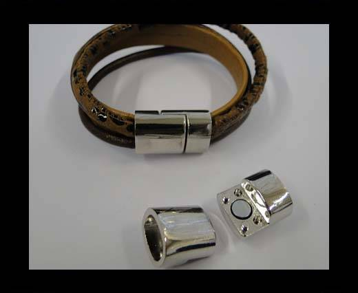 Buy Zamak magnetic clasp MGL-269-10*7mm-Steel at wholesale prices
