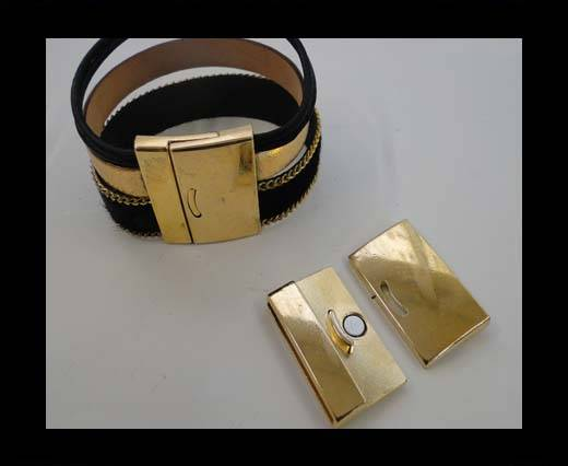 Zamak magnetic claps MGL-270-30*2,5mm-gold