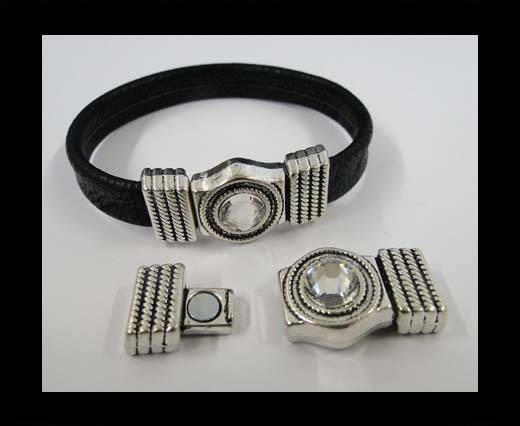 Zamak magnetic clasp MGL-272-10*2mm-Antique Silver