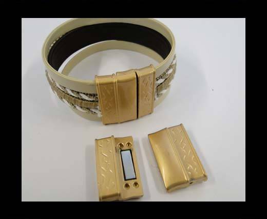 Zamak magnetic claps MGL-278-22*3mm-Matt Gold