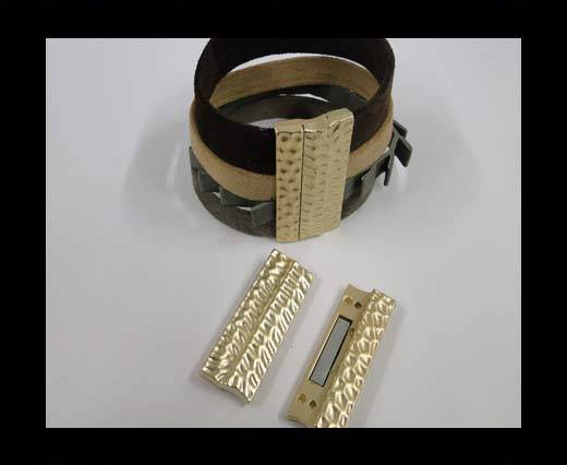 Zamac magnetic clasp MGL-294-40*3mm-gold matt