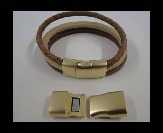 Zamak magnetic claps MGL-295-13*6mm-gold matt