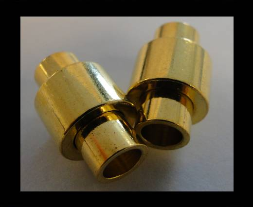 Zamak magnetic claps MGL-2-5mm-GOLD