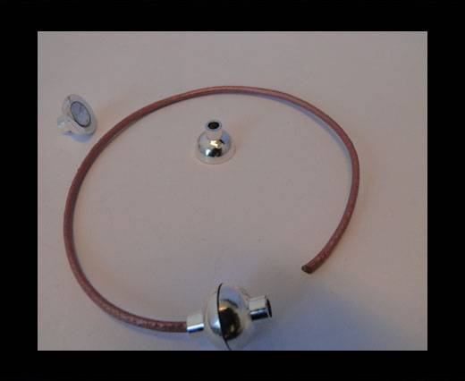 Zamak magnetic claps MGL-4-2.5MM-Silver