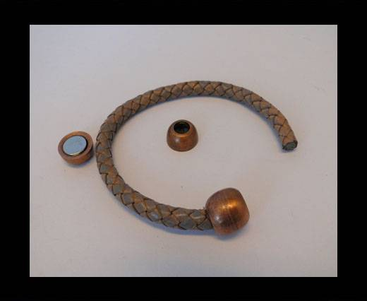 Zamak magnetic claps MGL-05-6mm-Antique copper