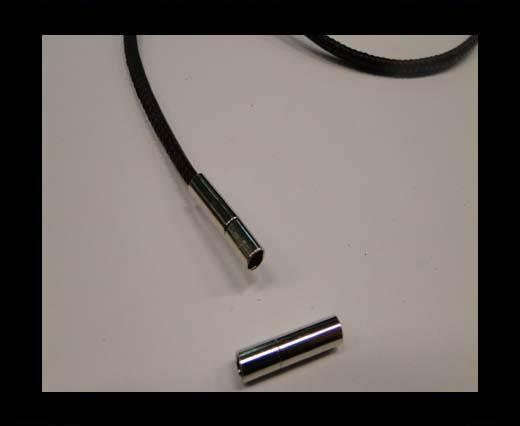 Zamak magnetic claps MGL-06-3mm-silver