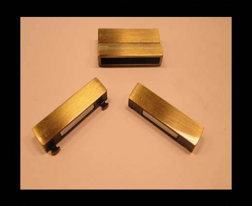 Buy Zamak magnetic claps MGL-109-35*4mm-Antique gold at wholesale prices