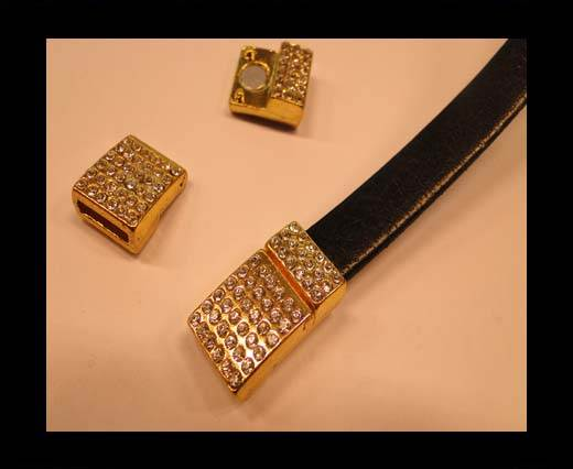 Buy Zamak magnetic clasp MGL-120-10*3mm-gold at wholesale prices
