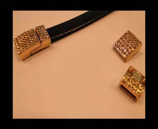 Zamak magnetic clasp MGL-120-10*3mm-Rose Gold