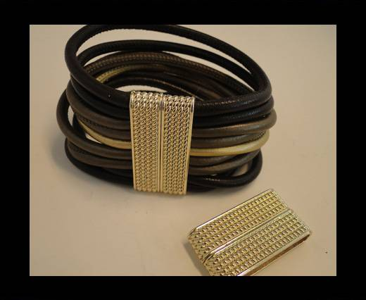Buy Zamak magnetic claps MGL-141-34*4mm-Gold at wholesale prices