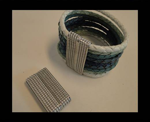 Buy Zamak magnetic claps MGL-141-34*4mm-Steel at wholesale prices