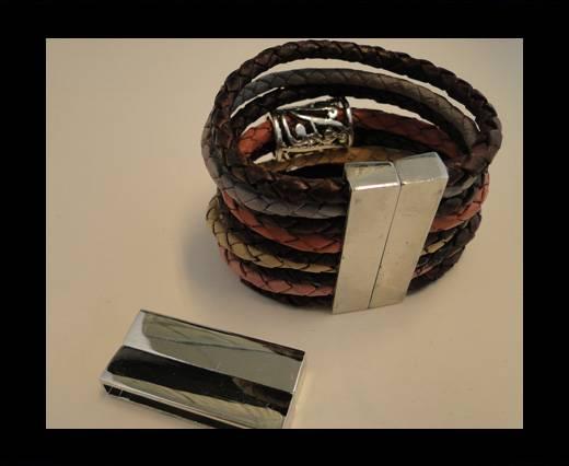 Zamac magnetic clasp MGL-149-40*4mm-Steel