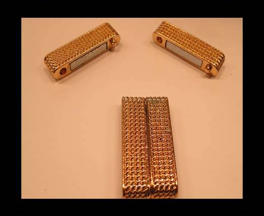 Zamak magnetic claps MGL-150-30*4,5mm-gold