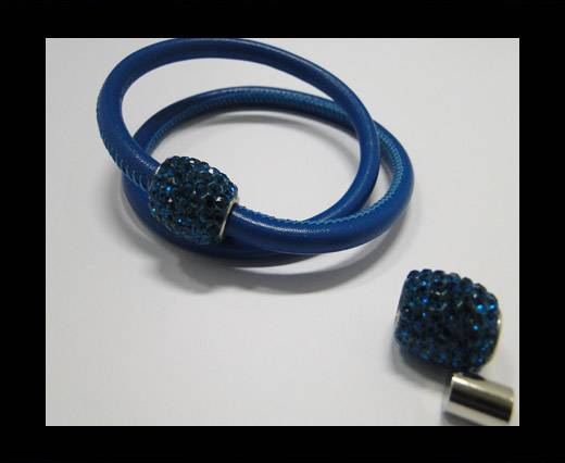 Buy Zamak magnetic claps MGL-152-6mm-Blue Zircan at wholesale prices