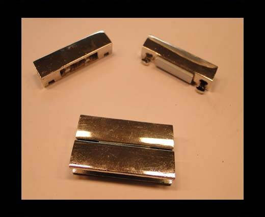 Buy Zamak magnetic claps MGL-153-38*4mm-steel silver at wholesale prices
