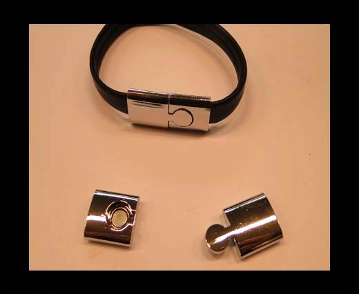 Buy Zamak magnetic clasp MGL-156-11*3mm-silver at wholesale prices