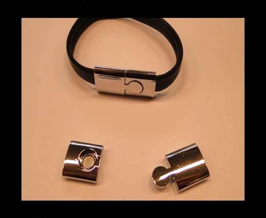 Zamak magnetic clasp MGL-156-11*3mm-silver