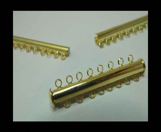 Zamak magnetic claps MGL-163-45mm-gold