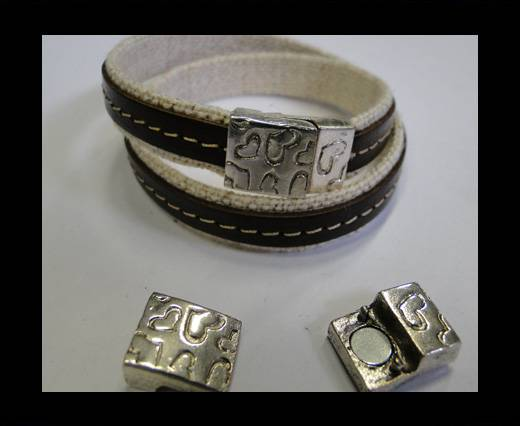 Zamak magnetic clasp MGL-177-10*3mm