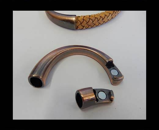 Zamak magnetic claps MGL-180-9*6mm-Anti. Copper