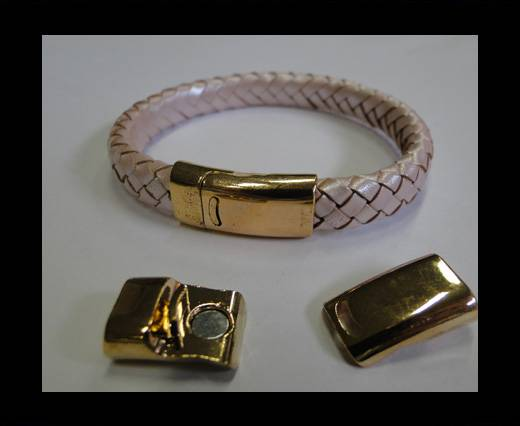 Zamak magnetic clasp MGL-191-10*2,5mm-Gold