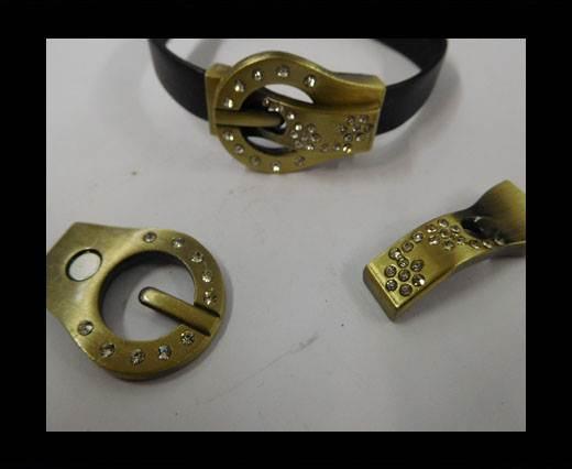 Zamak magnetic clasp MGL-194-10*2MM-GOLD