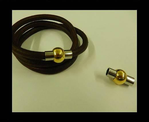 Zamak magnetic claps MGL-1-5MM-STEEL & GOLD