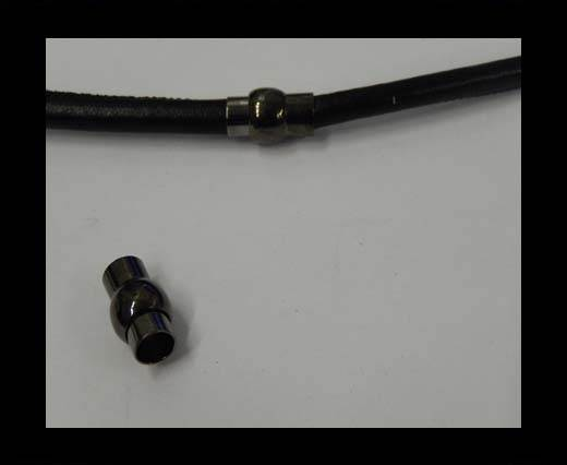 Buy Zamak magnetic clasp MGL-1-6mm-Black at wholesale prices